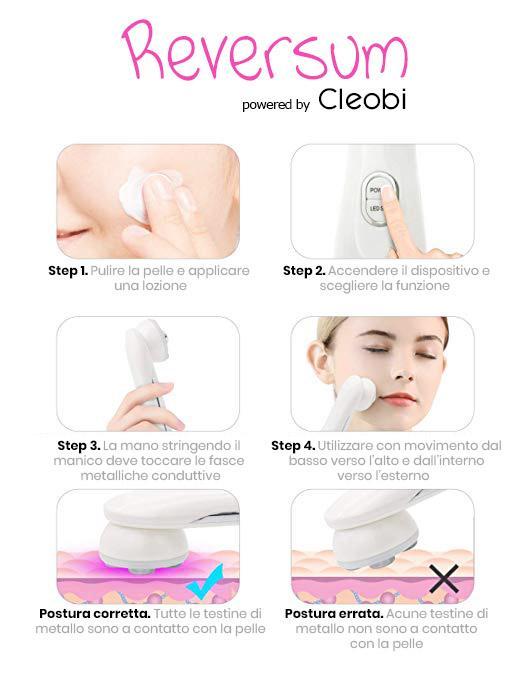Reversum, utilizzo sul viso